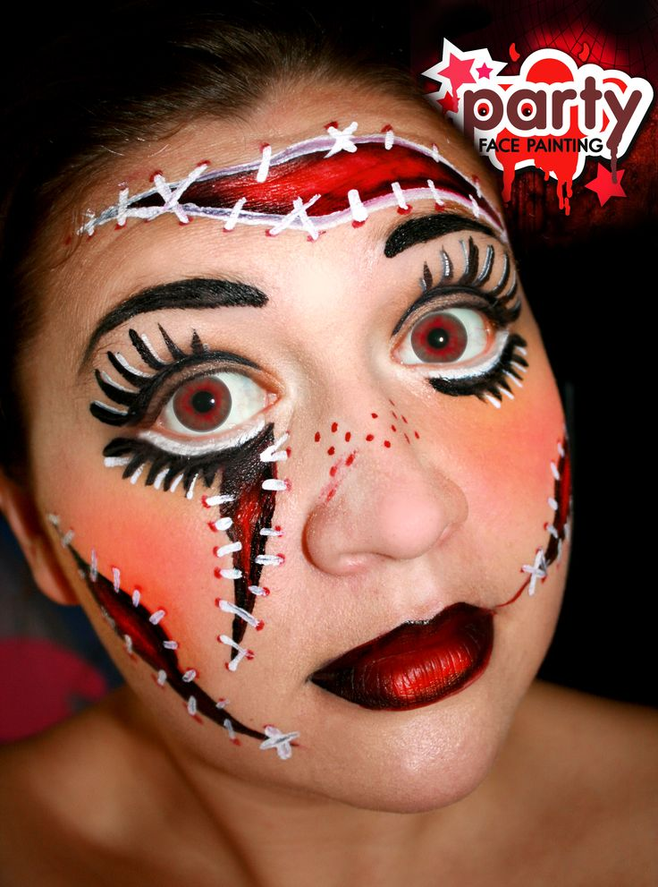 Zombie Doll Halloween Face Painting