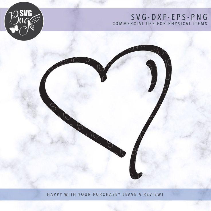Download Hand Drawn Heart Svg File, Doodle Heart Svg, Love Svg in ...