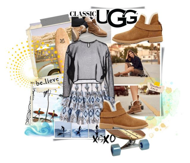 """""""The New Classics With UGG: Contest Entry"""" by painthead ❤ liked on Polyvore featuring UGG, Eos, Polaroid, Baxton Studio, Caroline Constas, Yves Saint Laurent and ugg"""