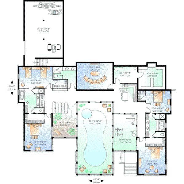 Pool Luxury Houses Floor Plans: 14 Best House Plans Images On Pinterest