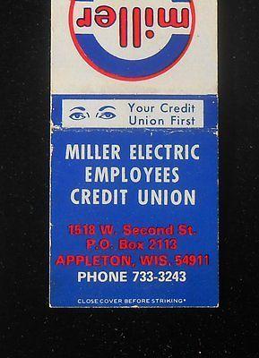 1960s Miller Electric Employees Credit Union World's Finest Welders Appleton WI