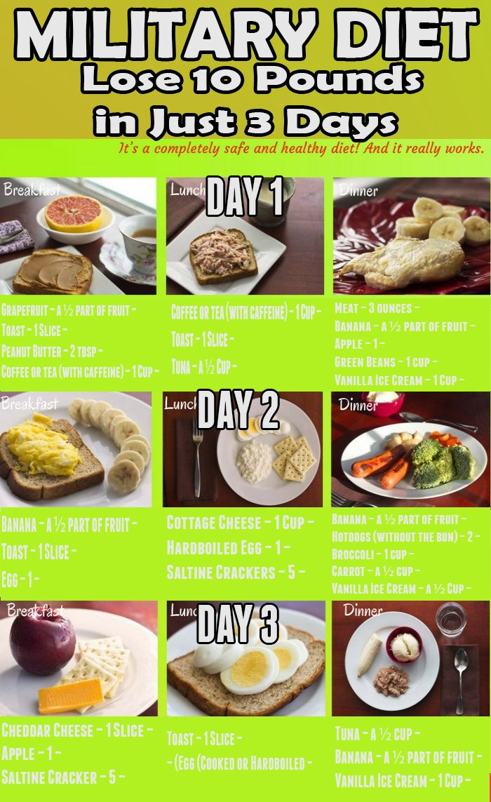 how safe is the 3 day military diet