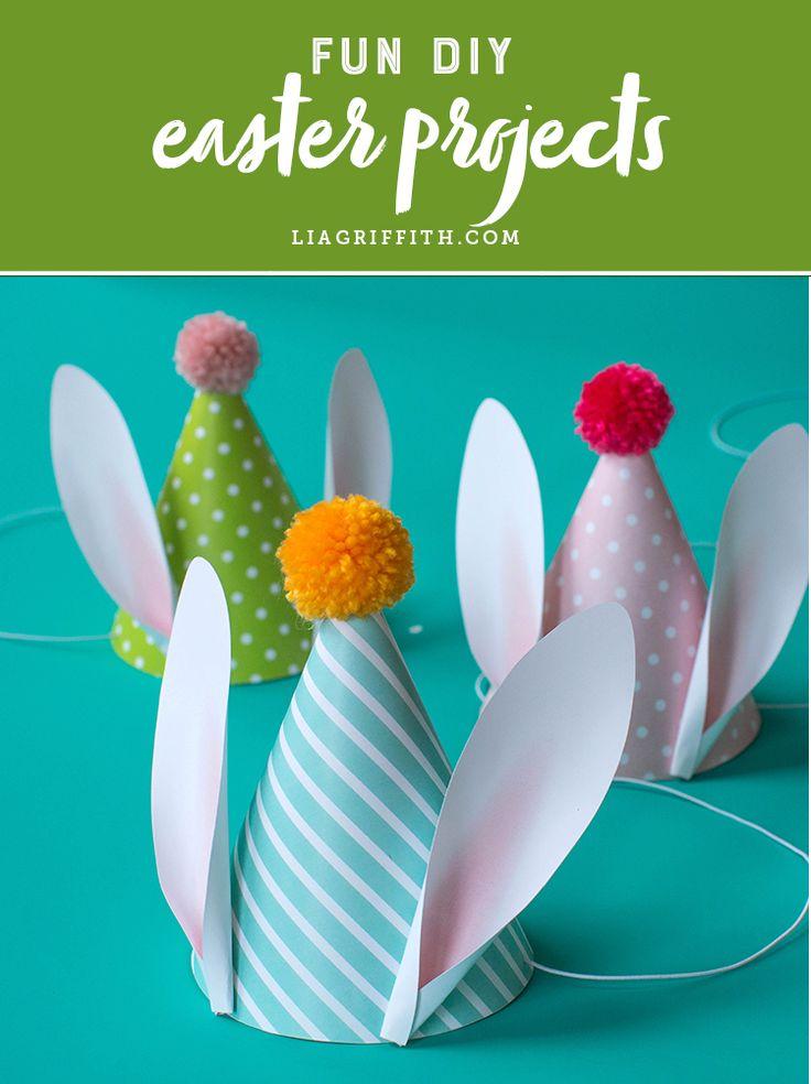 Find fun easter DIY projects and ideas! www.LiaGriffith.com #eastercrafts #easterdiy #kidsdiy #kidscrafts #diyeaster #easterinspiration #easterideas