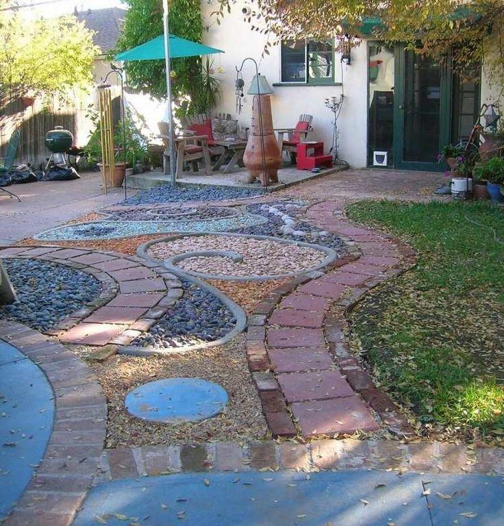 Gravier d coratif et galets pour enjoliver votre jardin 30 id es plus d 39 id es gravier - Terrasse jardin en gravier nimes ...