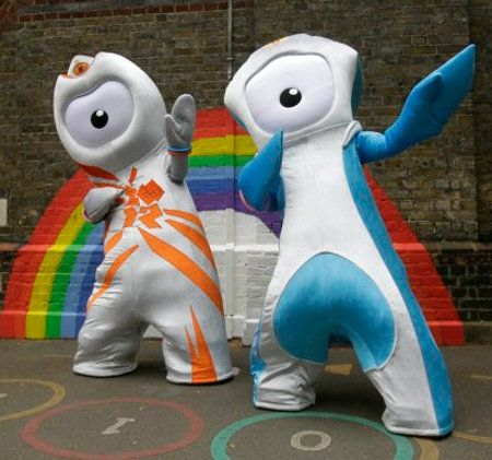 New mascots (Wenlock and Mandeville) for the 2012 Summer Olympics.