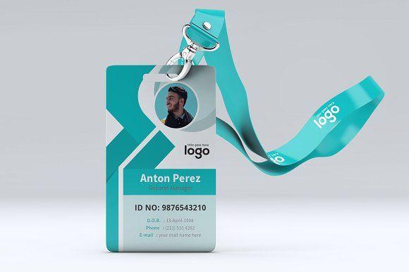Abstract Identification Or Id Card Design Contoh Kartu Nama