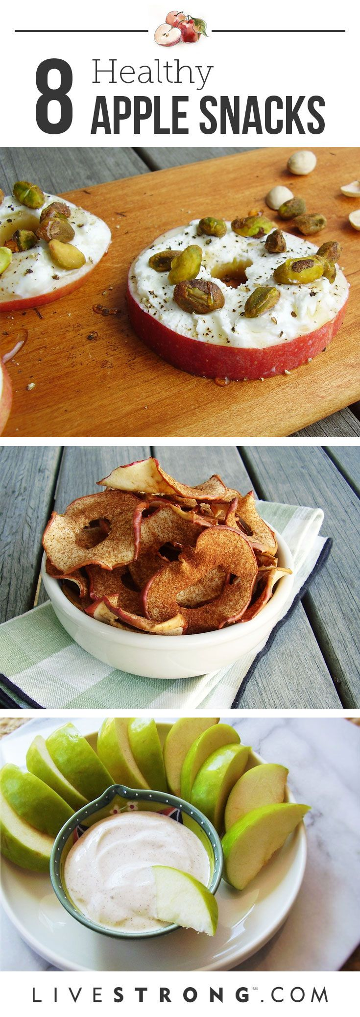 Keeping it healthy this fall? These apple snacks should help =)