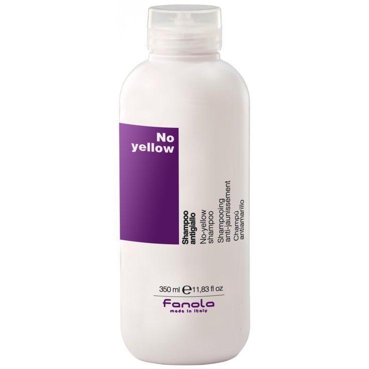 Fanola No Yellow Shampoo 350 ML. Purple shampoo for blonde hair.