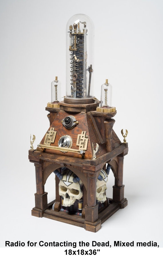 Radio for Contacting the Dead by StrangeToys on Etsy, $100.00