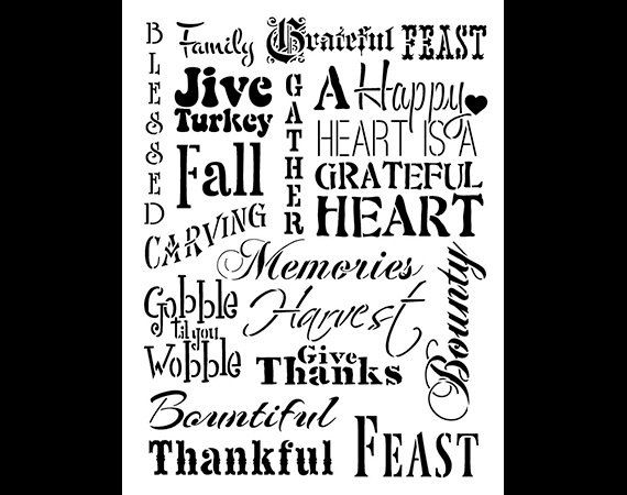 Thanksgiving Background-Word Stencil-Select Size-SKU: by StudioR12