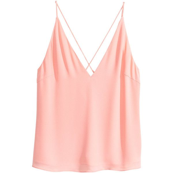 V-neck Camisole Top $24.99 ($25) ❤ liked on Polyvore featuring tops, pink cami top, v neck cami, camisole tops, pink camisole top and loose camisole
