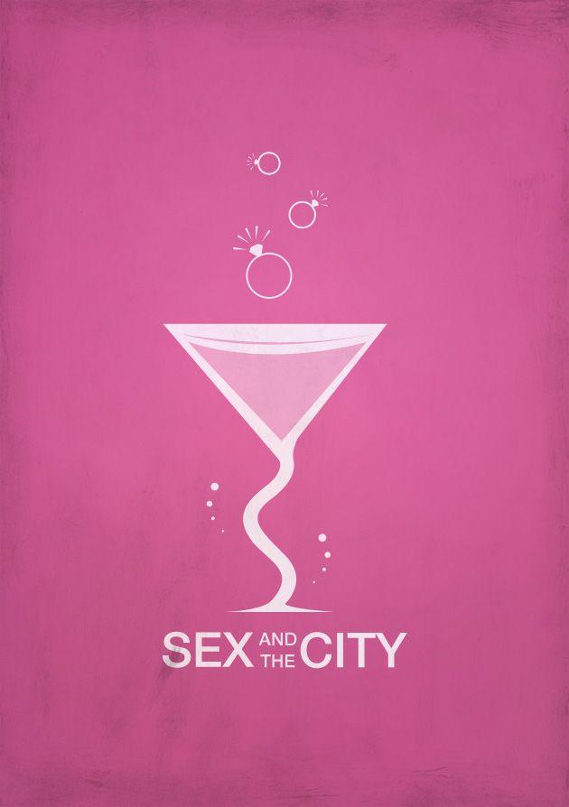Sex and the City (1998–2004) ~ Minimal TV Series Poster by Sandra Hillebrand #amusementphile