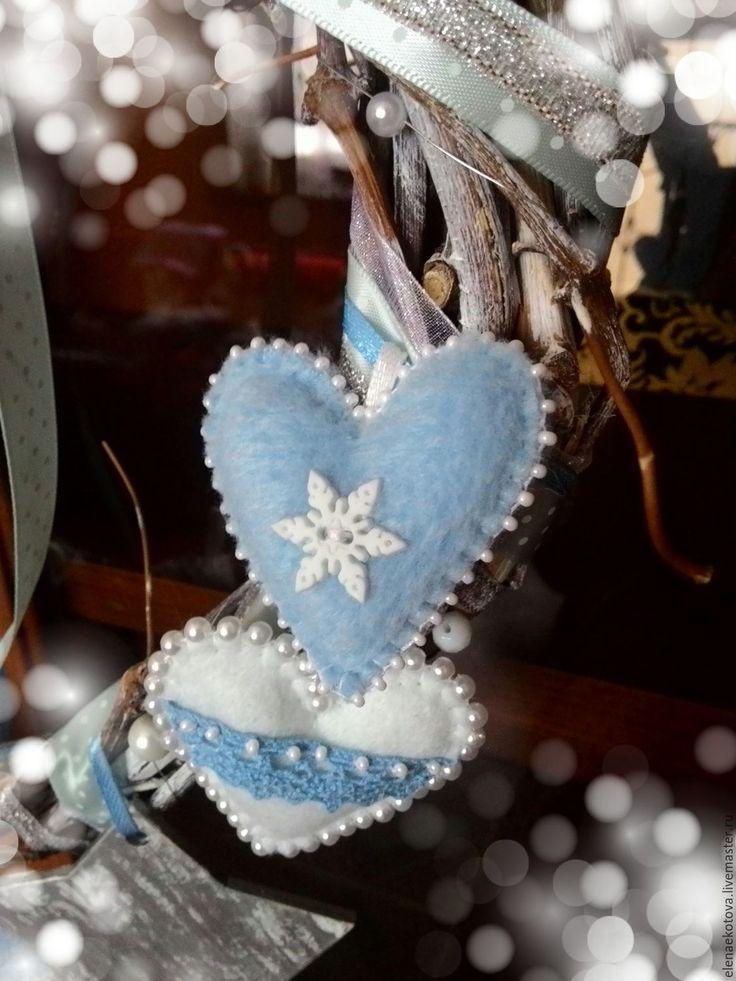 Купить Рождественский венок из виноградной лозы - голубой, рождественский венок, новогодний декор, интерьерное украшение