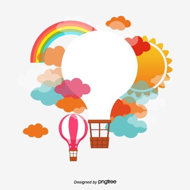 Cartoon Balao De Ar Quente Png E Psd Hot Air Balloon Cartoon Balloon Illustration Cartoon Clip Art