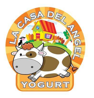 Diseño de Logotipo para la marca de yogurt La Casa del Angel