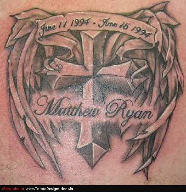 20 best images about cross tatoos on pinterest cross for In memory of my dad tattoo designs