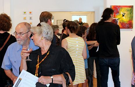 Guests at the opening - Allsorts exhibition 19 March - 12 April 2015, Strathnairn Arts