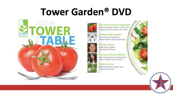 NEW Tower Garden iPad app content and DVD now available from Promo Plus www.RevUpWithJuicePlus.com