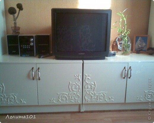 описание: декор предметов витраж переделка старой мебели стенки дерево фото 15.