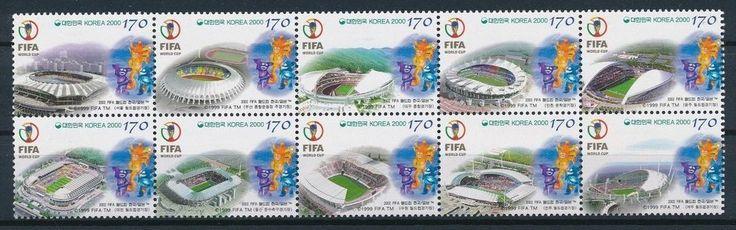 South Korea 2000 World Cup Football Championship FIFA Block of 10 MNH  | eBay