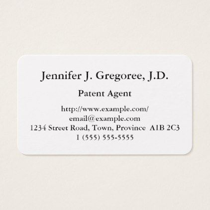 #professional - #Basic Patent Agent Business Card