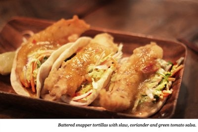 Snapper Tortillas by Al Brown at Depot, Auckland NZ