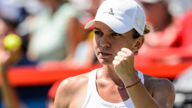 #tennis #news  Halep beats Keys to win Rogers Cup