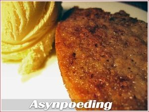 A recipe for traditional South African asynpoeding (vinegar pudding) - a self-saucing baked pudding where the sweetness is balanced out by a hint of vinegar