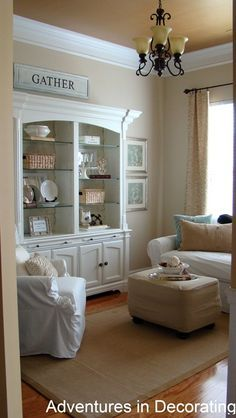 Benjamin Moore Manchester Tan...might use this color for both the living room/dining room but use different accents