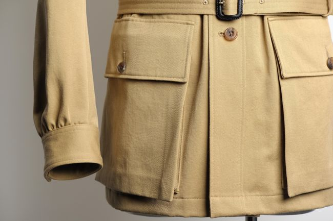 """""""Large match pockets originally meant for holding hunting-gun ammunition""""."""