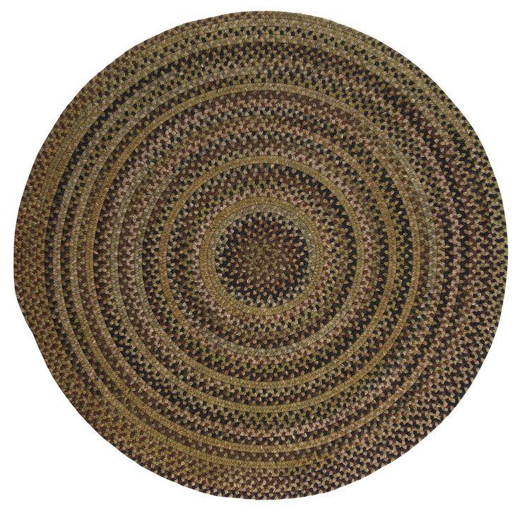 Rustica Round Braided Wool Rug, RU60 Grecian Green
