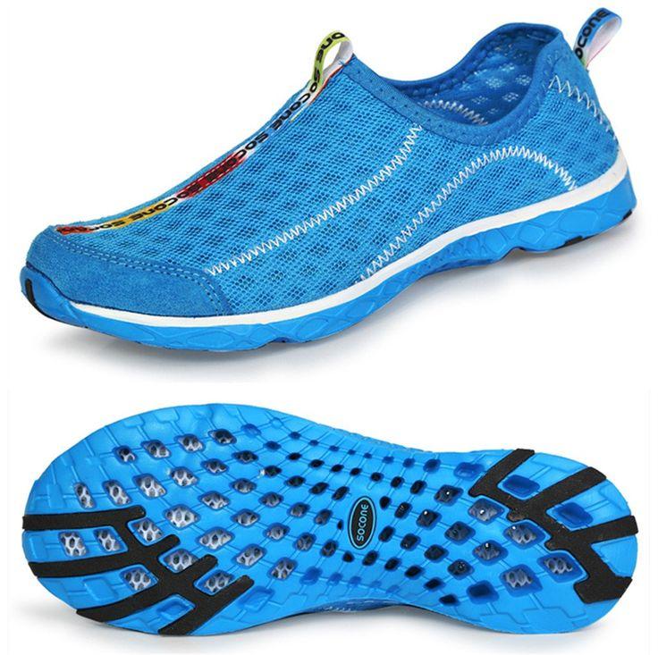 aleader s mesh slip on water shoes blue 6 d m us
