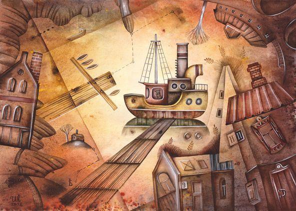 SOLD. Seaside by Eugene Ivanov, watercolor on paper, 29 X 41 cm. #eugeneivanov #@eugene_1_ivanov #modern #original #oil #watercolor #painting #sale #art_for_sale #original_art_for_sale #modern_art_for_sale #canvas_art_for_sale #art_for_sale_artworks #art_for_sale_water_colors #art_for_sale_artist #art_for_sale_eugene_ivanov