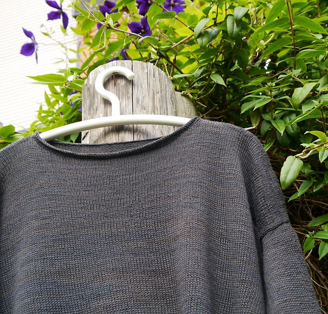 Ravelry: Project Gallery for Boxy pattern by Joji Locatelli,no detail on collar or sleeves. I like it.