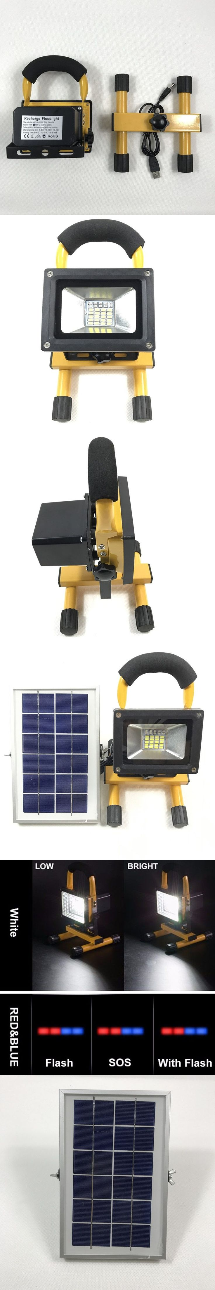 Waterproof IP65 Rechargeable Solar LED Portable Lanterns Rechargeable LED Work SOS Emergency light 4Modes Outdoor Camping Lights