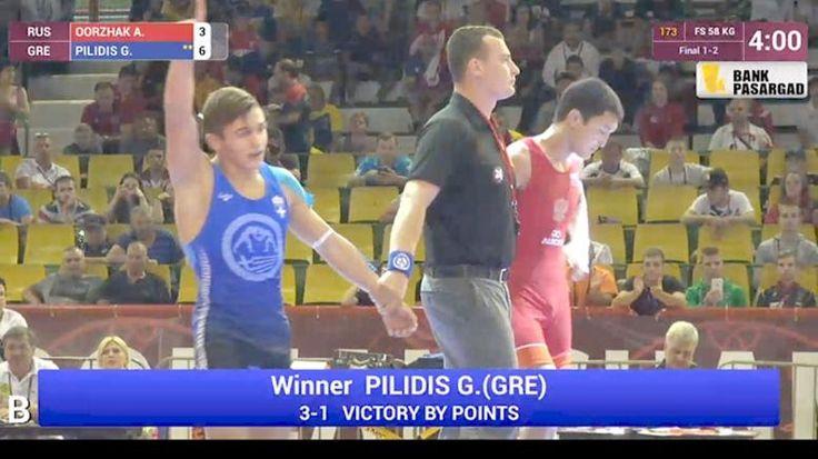 «Χρυσός» ο Πιλίδης στο Ευρωπαϊκό Παίδων