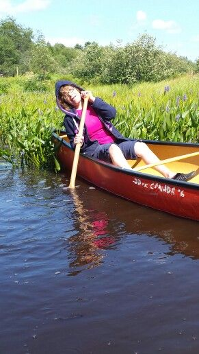 I pretend I'm falling out of canoes into a foot of water.