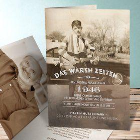 Einladungskarten 70. Geburtstag - selbst gestalten