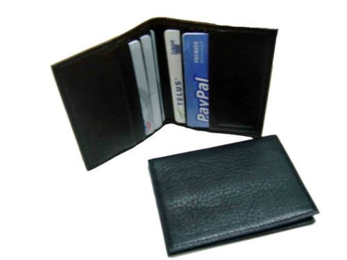 New Bifold Leather Small Business Card Credit Card Holder Men Women Wallet | eBay