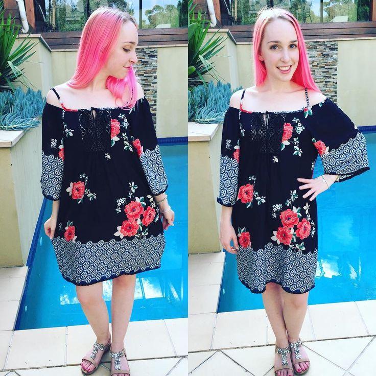 Stunning Black Floral Beach Party Dress