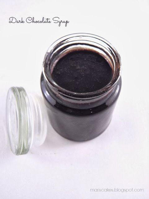 SYRUP DE CHOCOLATE: chocolate negro -mantequilla - jarabe de maiz - cacau en polvo - maizena - leche