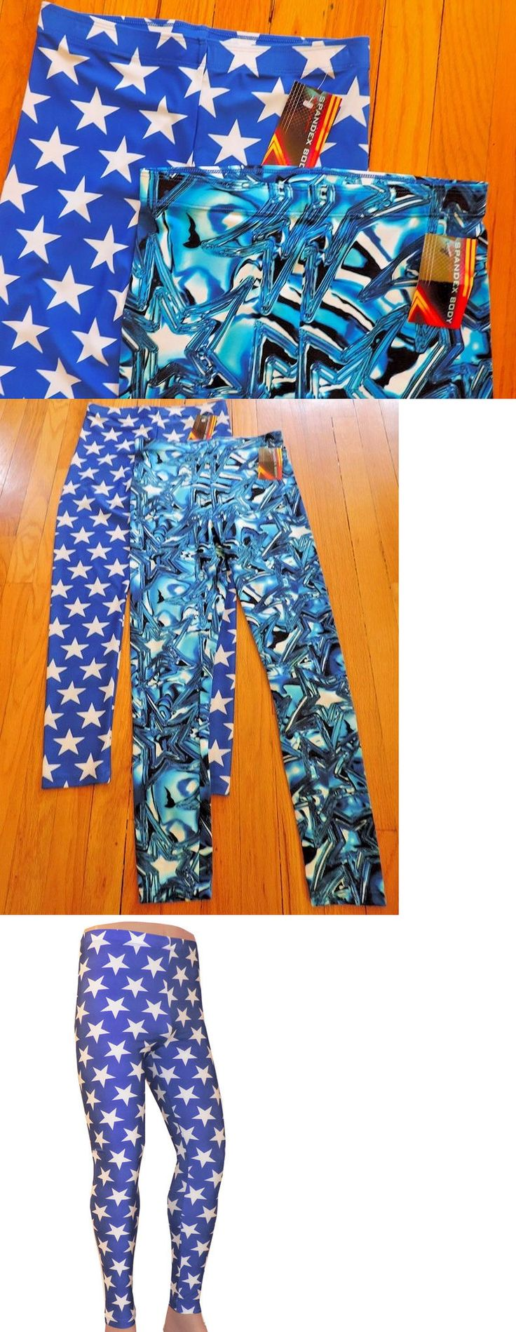 Clothing 79796: Lot 2 Medium Wrestling Tights Stars Blue Abstract Festival Edm Cos Play -> BUY IT NOW ONLY: $40 on eBay!