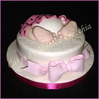 TORTA DECORADA PARA BABY SHOWER DE NIÑA | TORTAS CAKES BY MONICA FRACCHIA