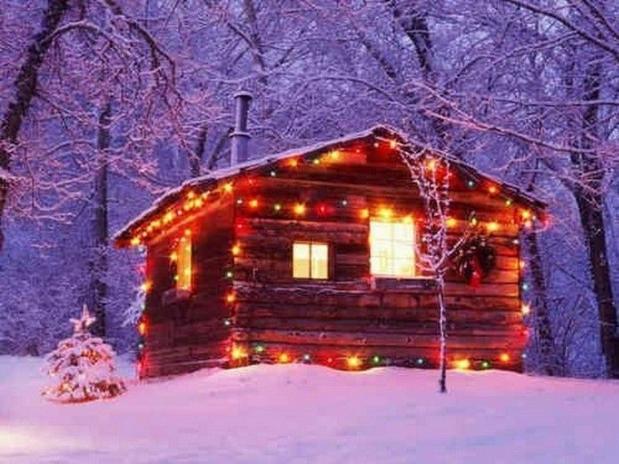 Best Winter At The Cabin Images On Pinterest Chalet Style - Christmas cabin fireplace scenes