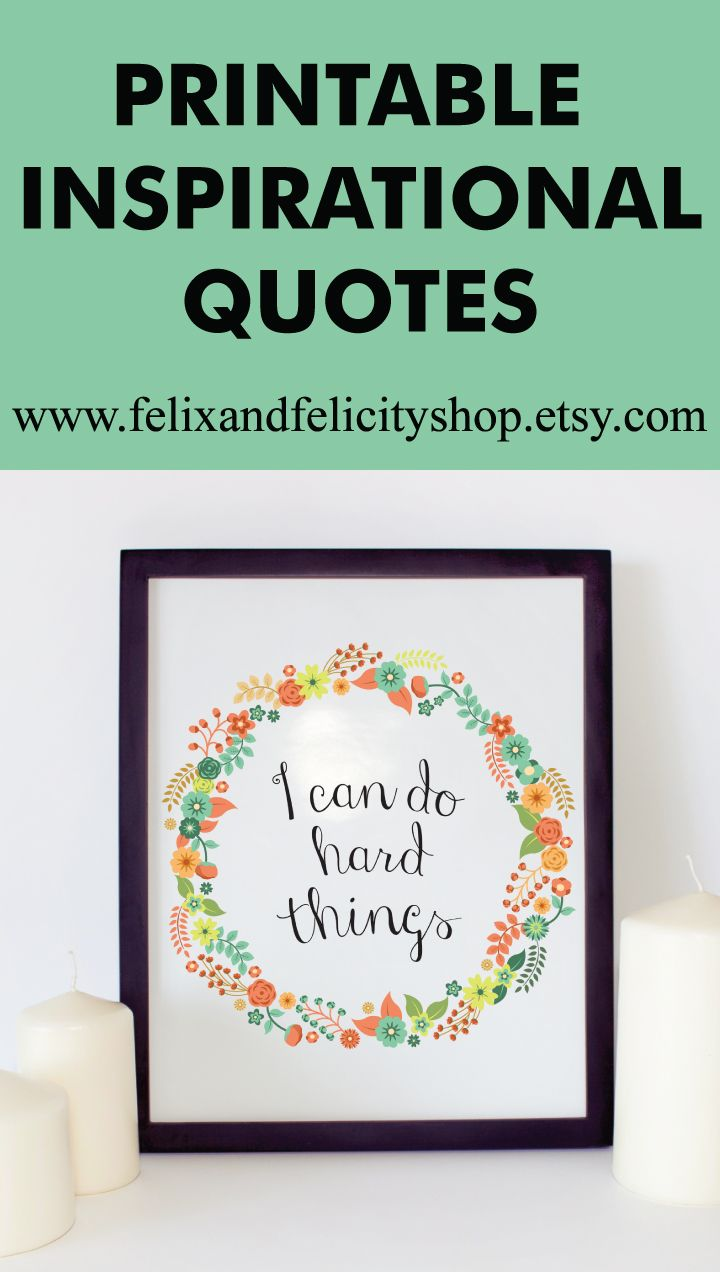 graphic relating to Etsy Printables named Inspirational Quotations, Etsy Merchants, Printables, Greatest endorsing