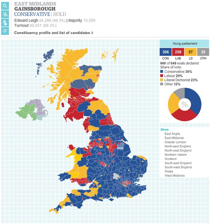 Election Results Map Showing All The Results In All UK - Blended map of the us election