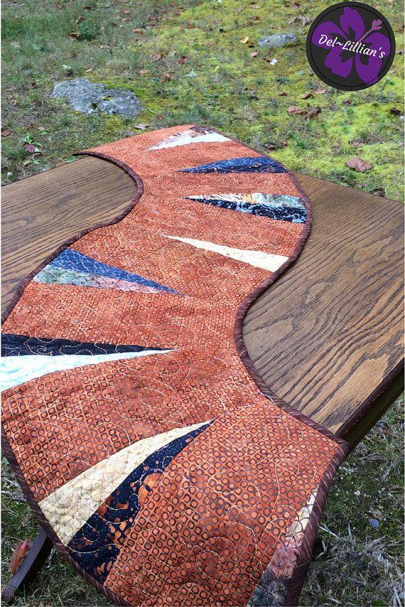 Autumn Table RunnerModern Table Runner Minimalist by DelLillians