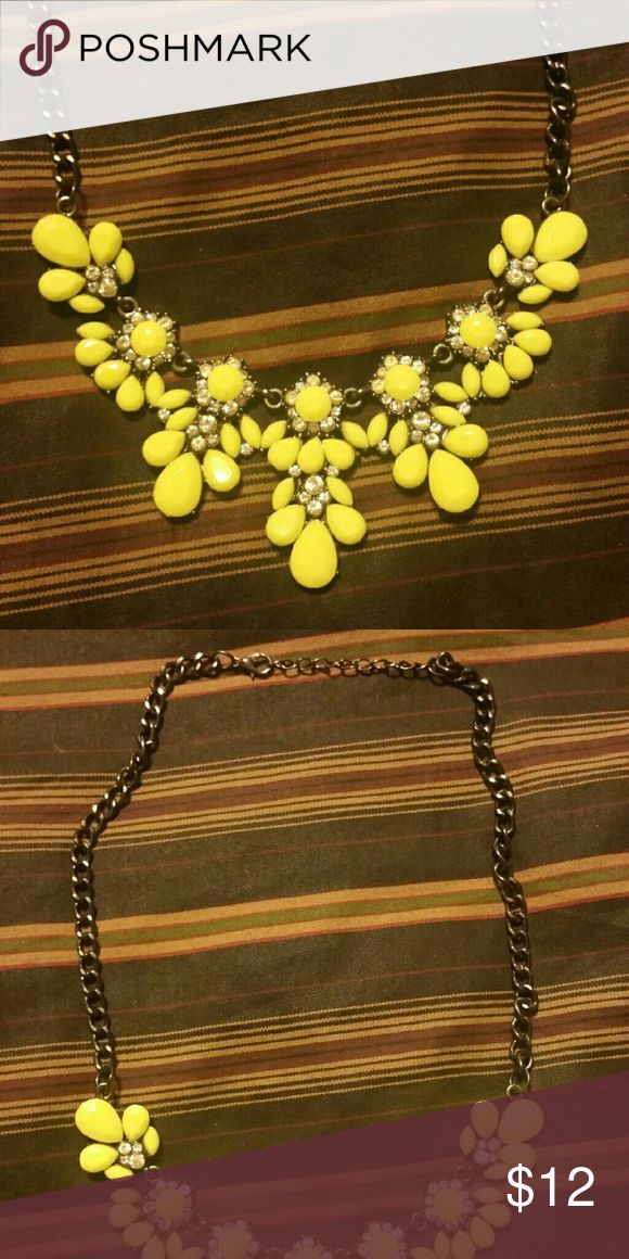 statement necklace yellow with black necklace chain Jewelry Necklaces