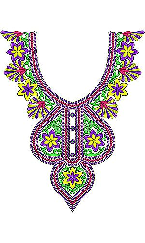 UAE Neck Designs For Embroidery