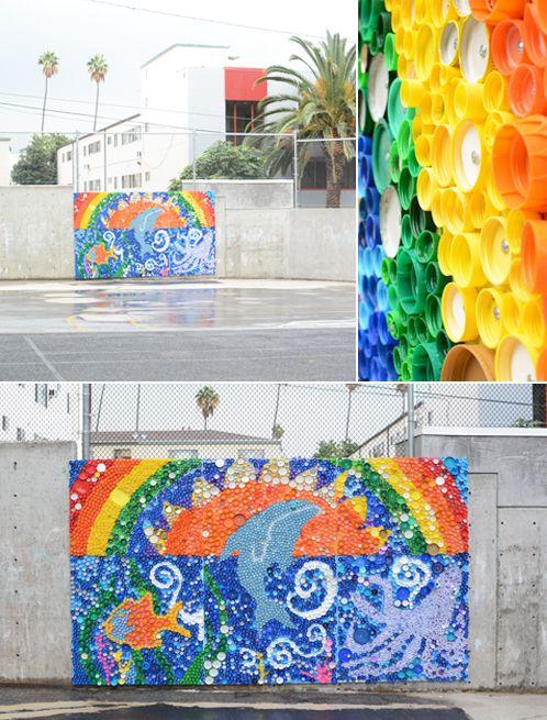 109 best images about plastic bottle caps on pinterest for Bottle cap mural tutorial